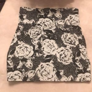 Floral stretch mini skirt